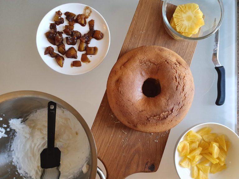 קישוט עוגת המסקרפונה. צילום: דביר בר