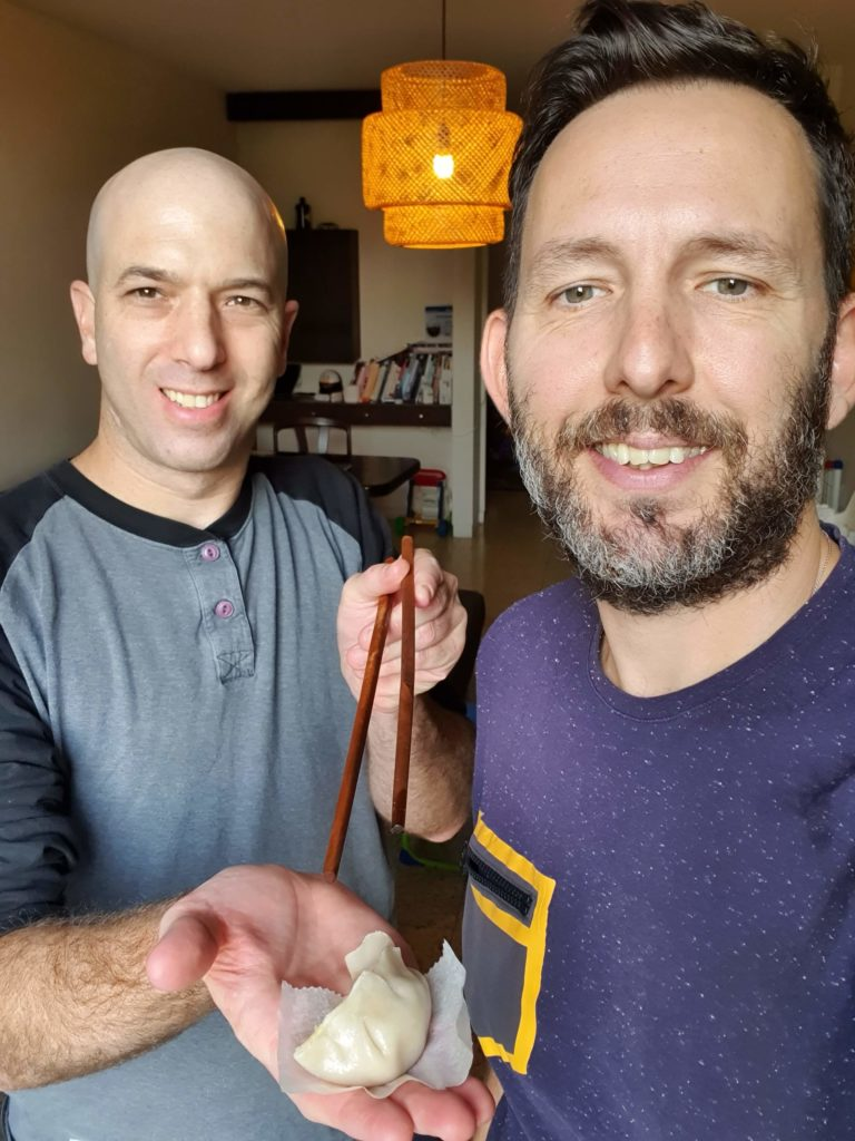 תומר בר מאיר (משמאל) ודביר בר. צילום: סלפי