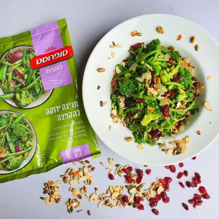 לקט ירקות. ארוחה קלה. צילום: דביר בר